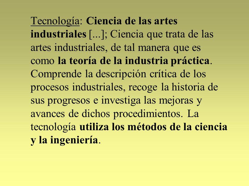 Tecnología: Ciencia de las artes industriales [